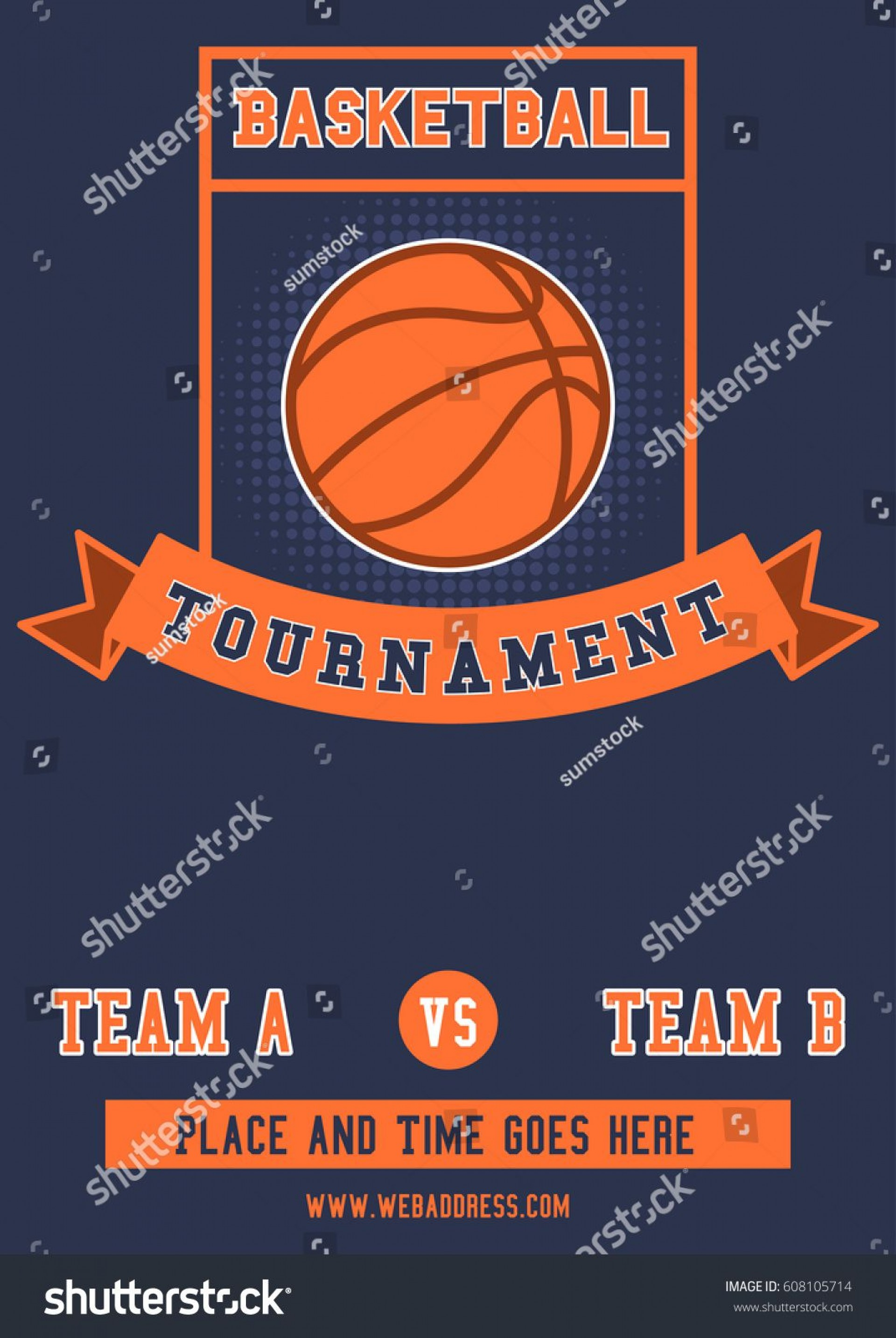 010 Imposing Basketball Tournament Flyer Template High Definition  3 On Free1920