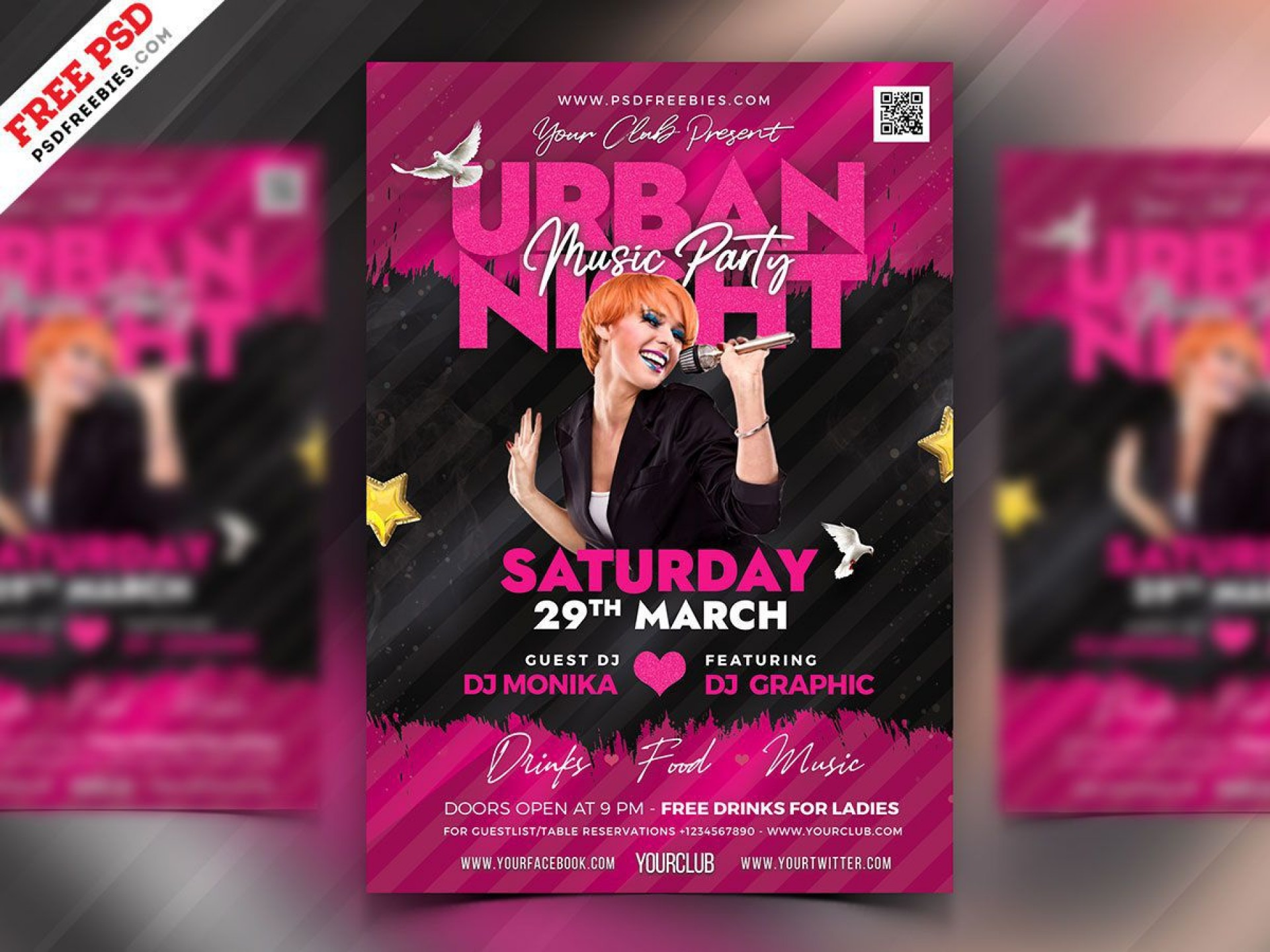 010 Imposing Club Party Flyer Template Free High Definition 1920