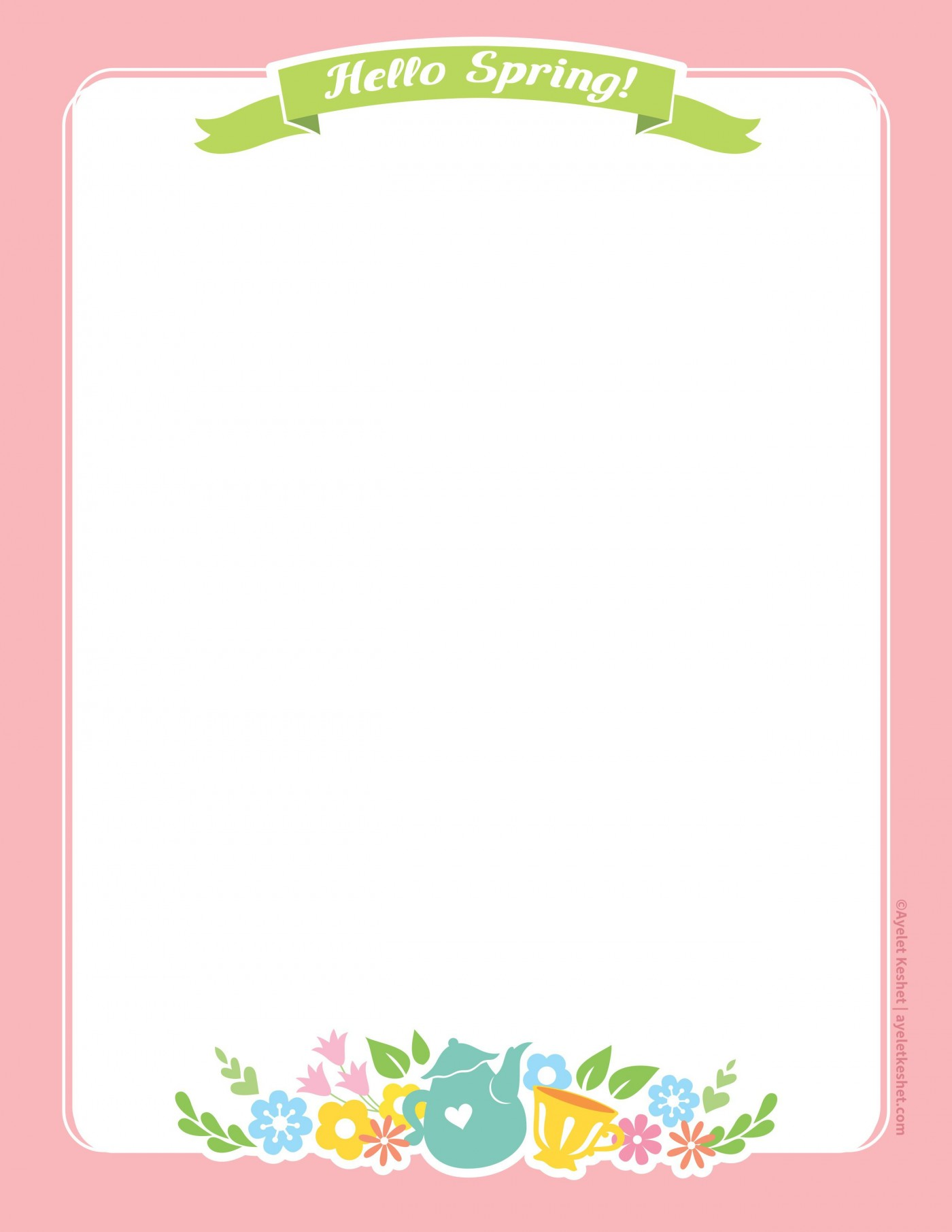 010 Imposing Free Printable Stationery Paper Template Example 1400