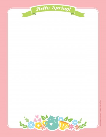 010 Imposing Free Printable Stationery Paper Template Example 360