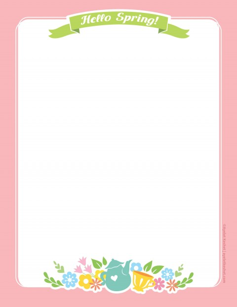 010 Imposing Free Printable Stationery Paper Template Example 480