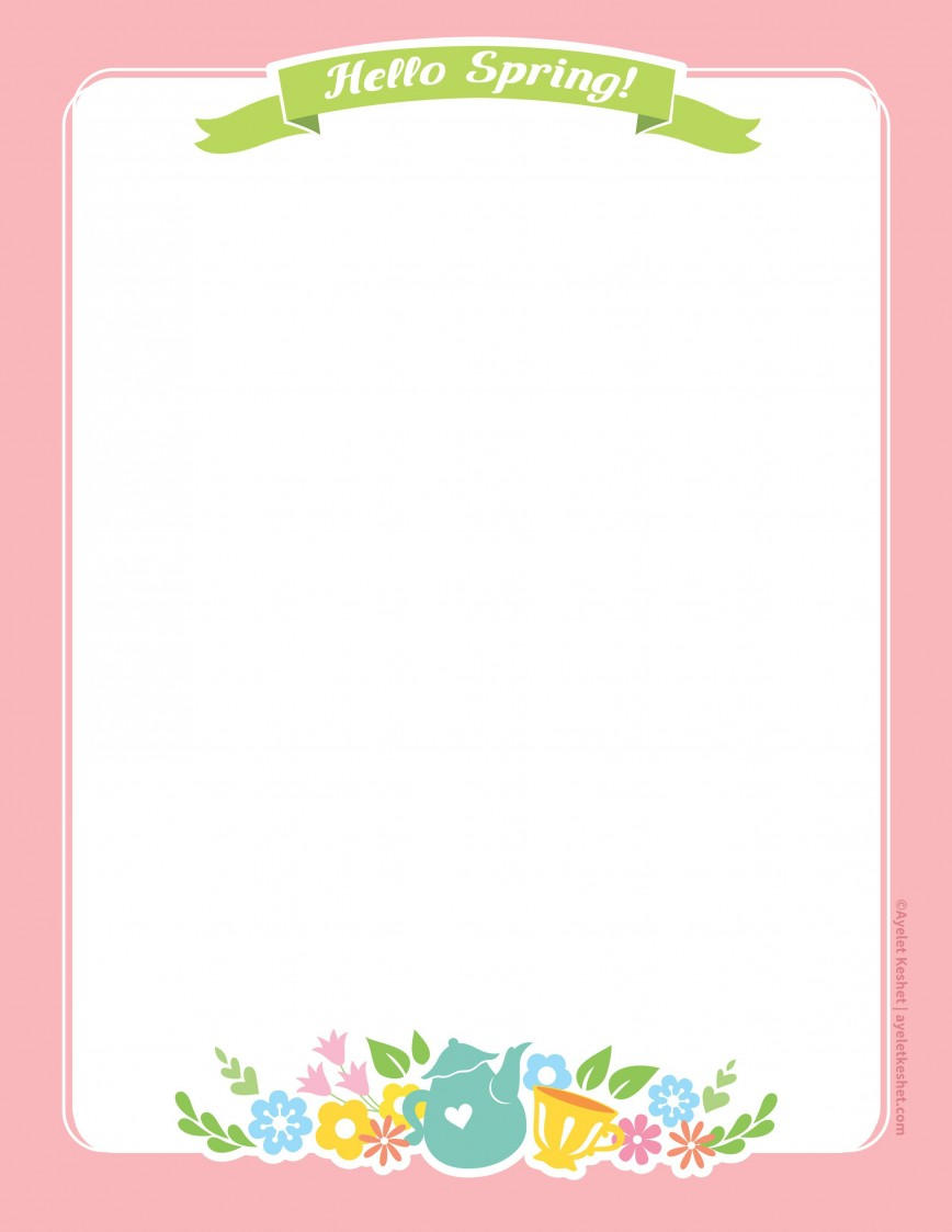 010 Imposing Free Printable Stationery Paper Template Example 868