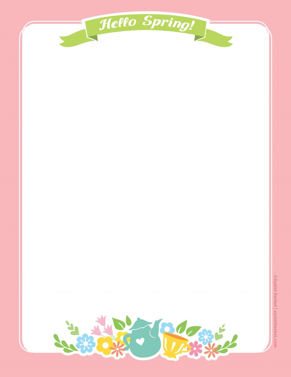 010 Imposing Free Printable Stationery Paper Template Example 960
