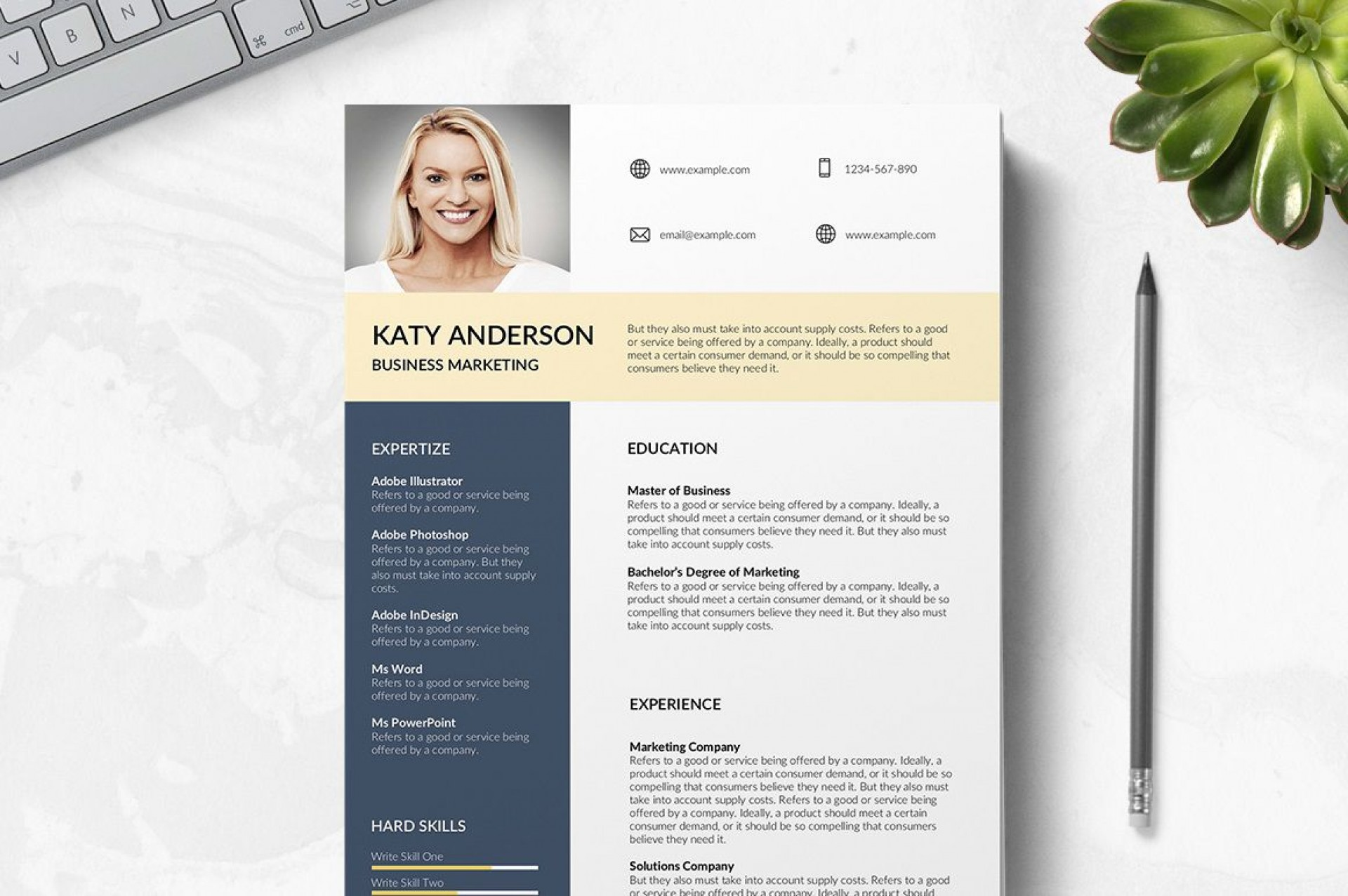 010 Imposing Professional Cv Template Free 2019 Photo  Resume Download1920