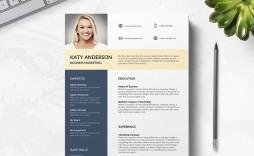 010 Imposing Professional Cv Template Free 2019 Photo  Resume Download