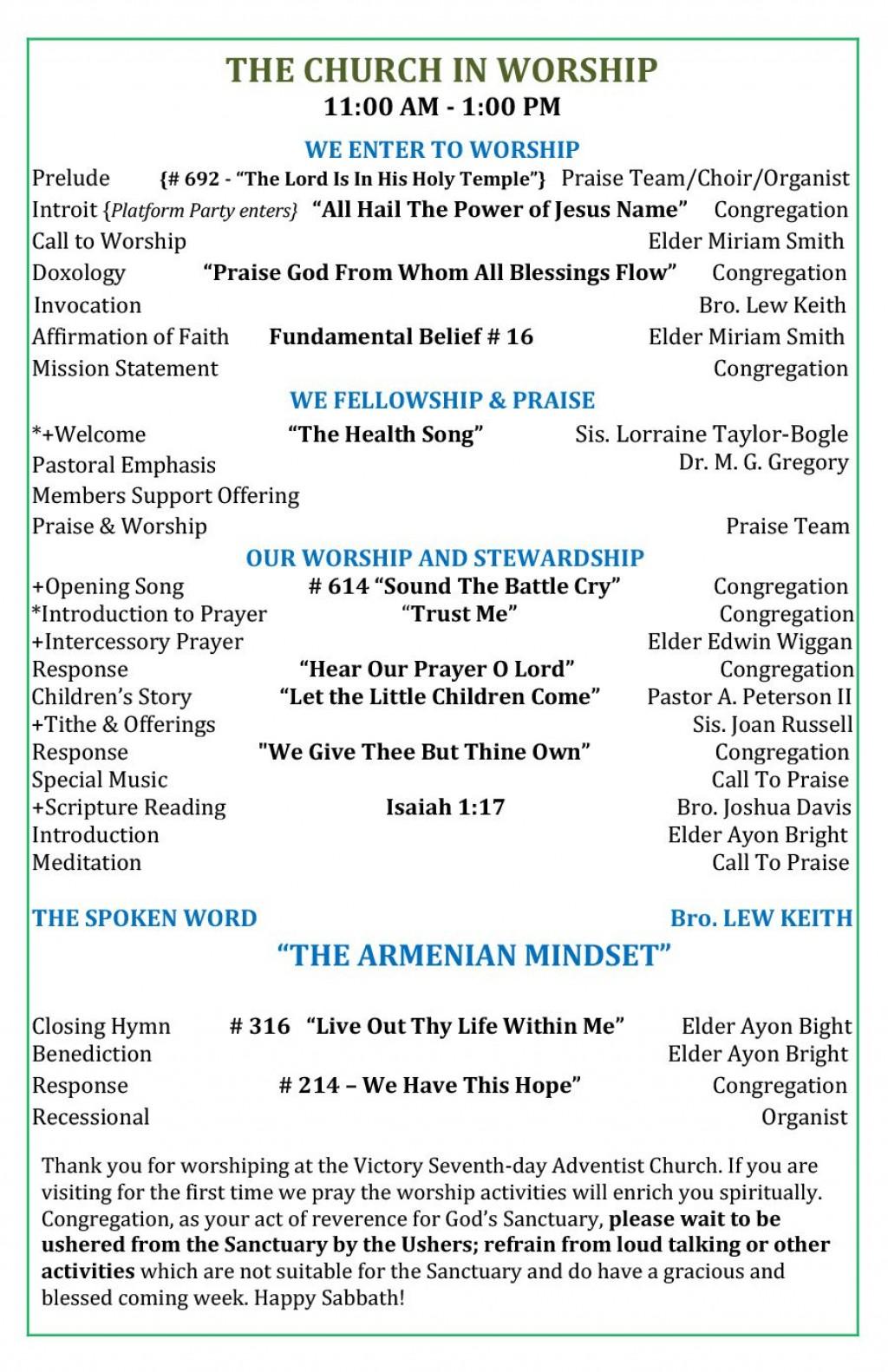 010 Impressive Church Bulletin Template Word High Definition  Program Free WeddingLarge