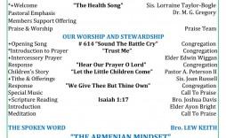 010 Impressive Church Bulletin Template Word High Definition  Program Free Wedding