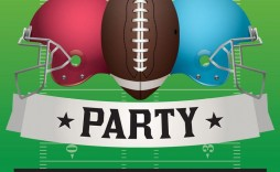 010 Impressive Football Flyer Template Free Design  Download Flag Party