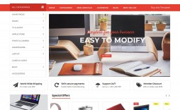 010 Impressive Free Commerce Website Template Idea  Wordpres Ecommerce Download Responsive Html Cs
