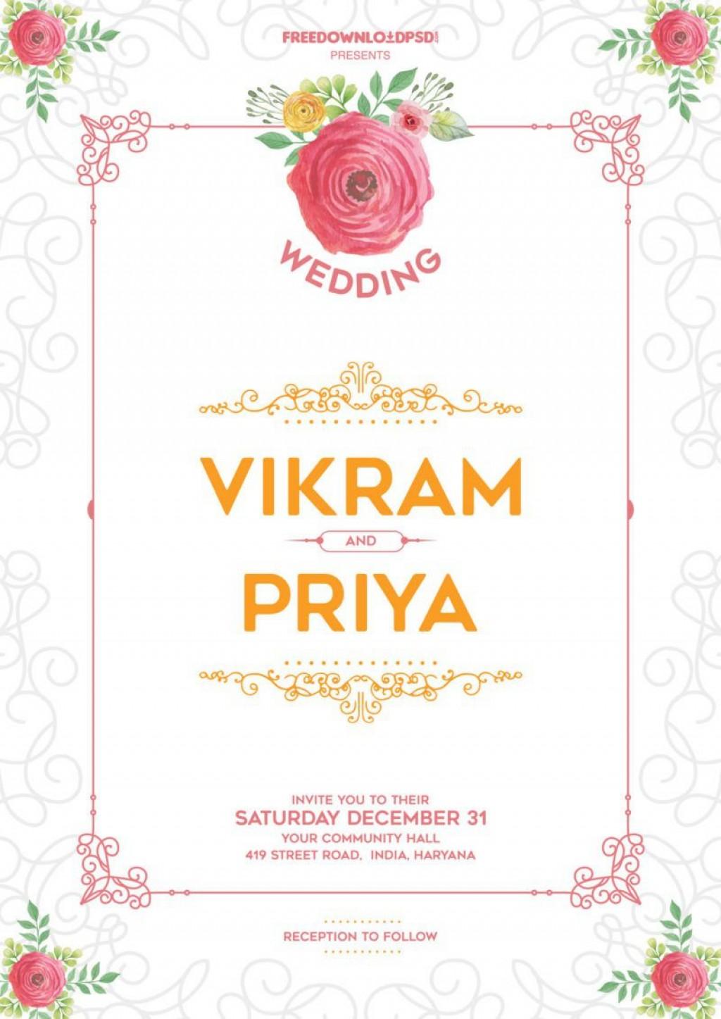 010 Impressive Free Download Invitation Card Design Software High Definition  Wedding IndianLarge