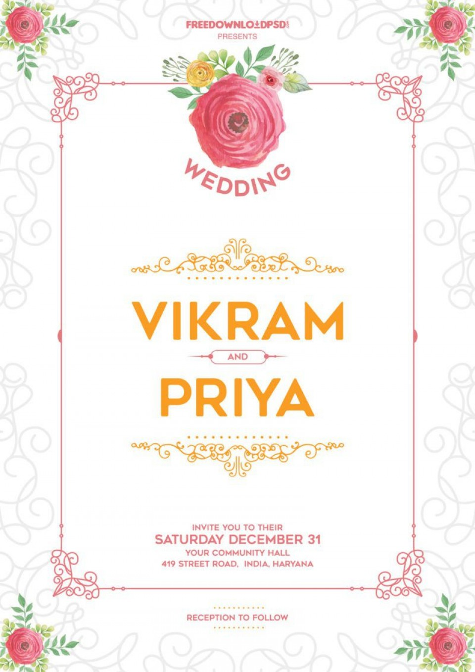 010 Impressive Free Download Invitation Card Design Software High Definition  Wedding For Pc Indian960