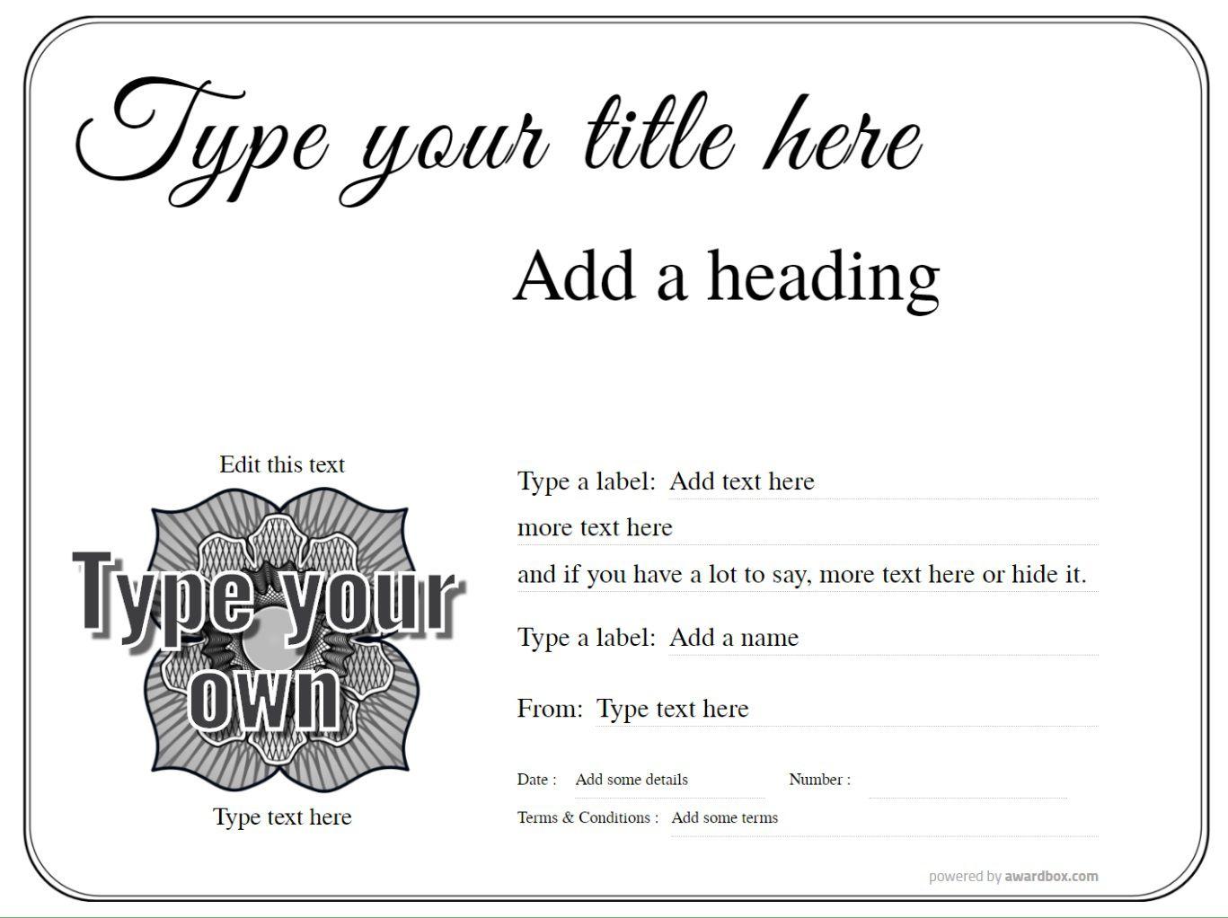 010 Impressive Free Printable Certificate Template Uk Image Full