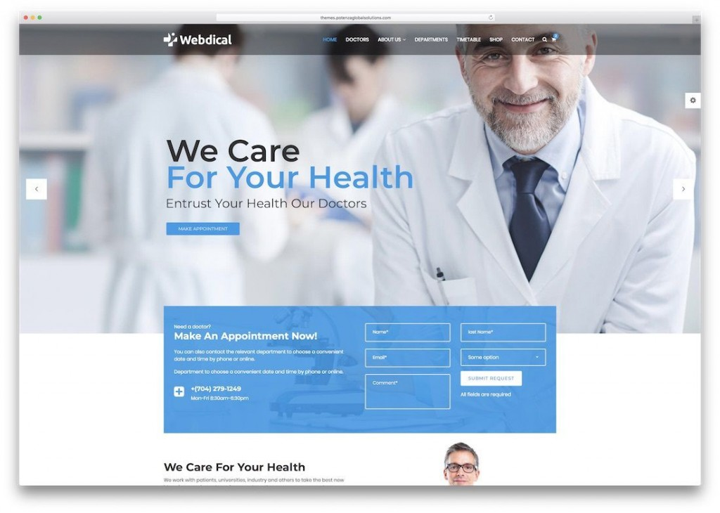 010 Impressive Free Website Template Download Html And Cs Jquery For Hospital Example Large