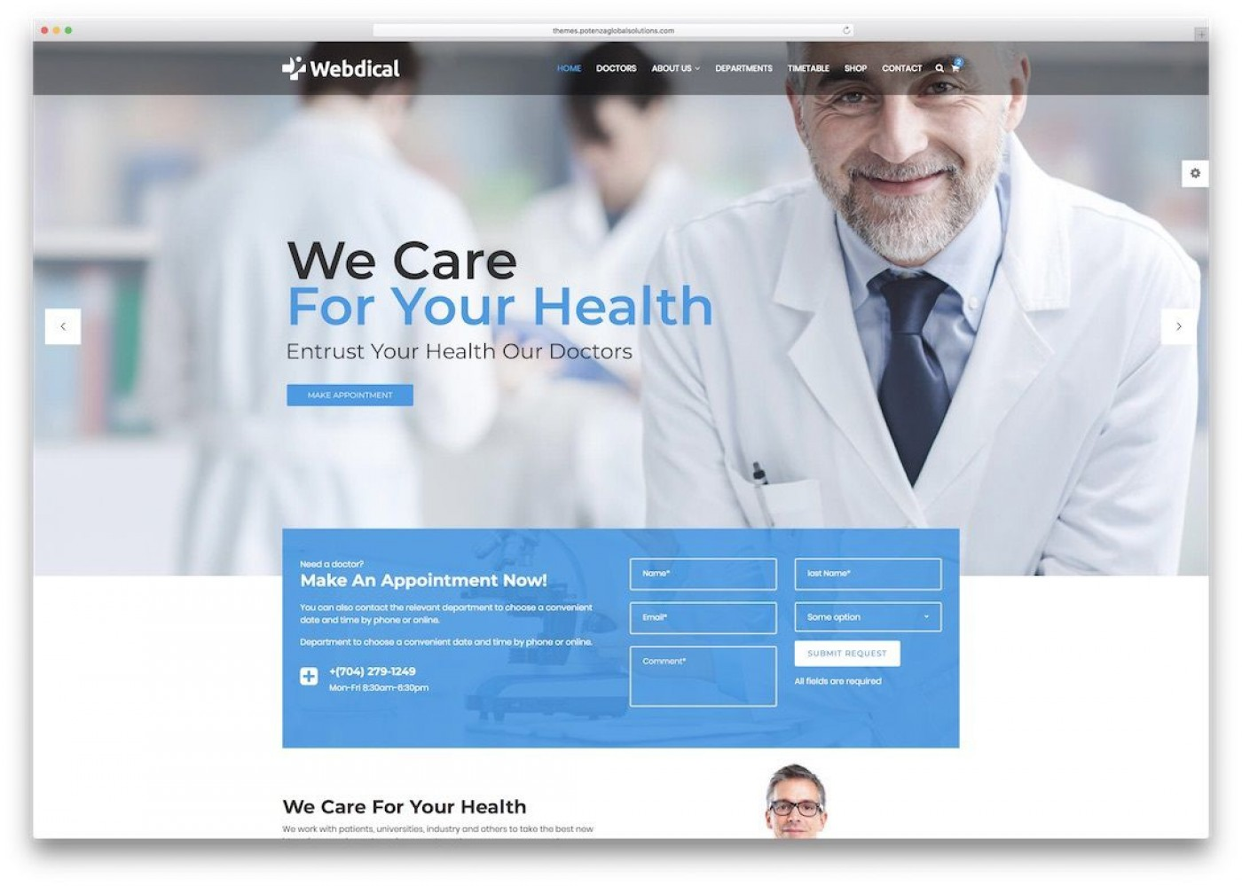 010 Impressive Free Website Template Download Html And Cs Jquery For Hospital Example 1400