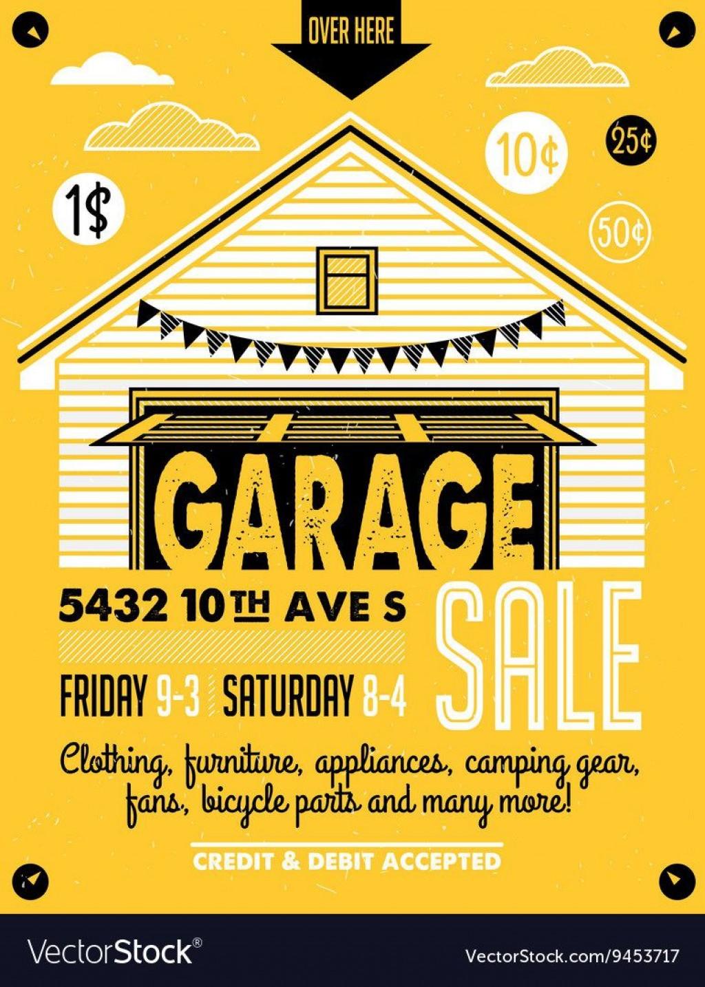 010 Impressive Garage Sale Flyer Template Free Concept  Community Neighborhood YardLarge