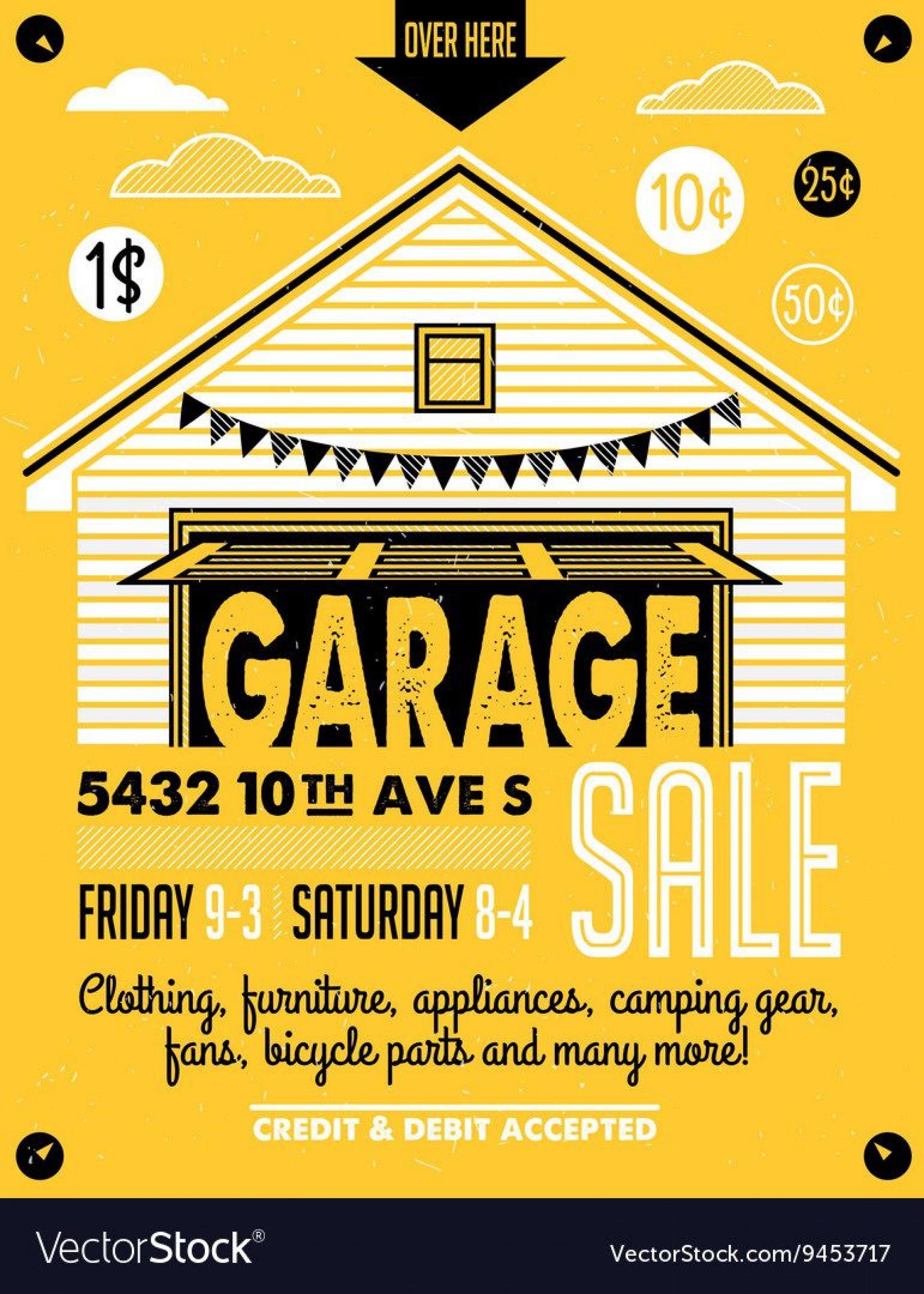 010 Impressive Garage Sale Flyer Template Free Concept  Community Neighborhood Yard1920