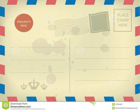 010 Impressive Postcard Layout For Microsoft Word High Resolution  Busines Template480