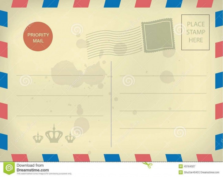 010 Impressive Postcard Layout For Microsoft Word High Resolution  Busines Template728