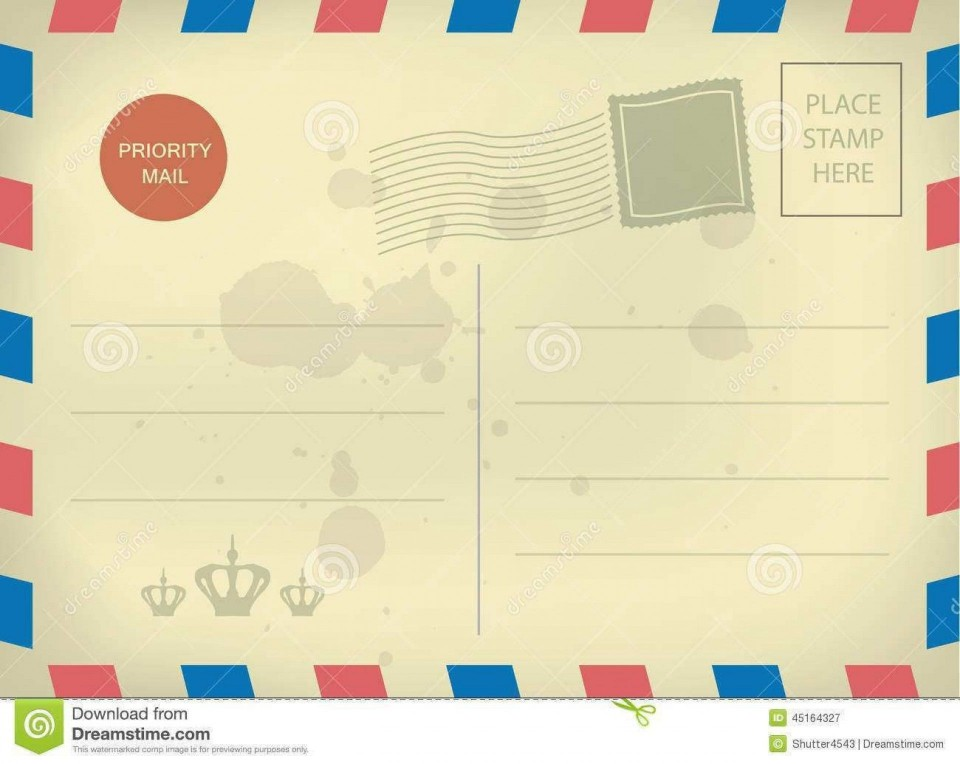 010 Impressive Postcard Layout For Microsoft Word High Resolution  Busines Template960