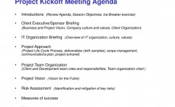 010 Impressive Project Team Kickoff Meeting Agenda Template Picture