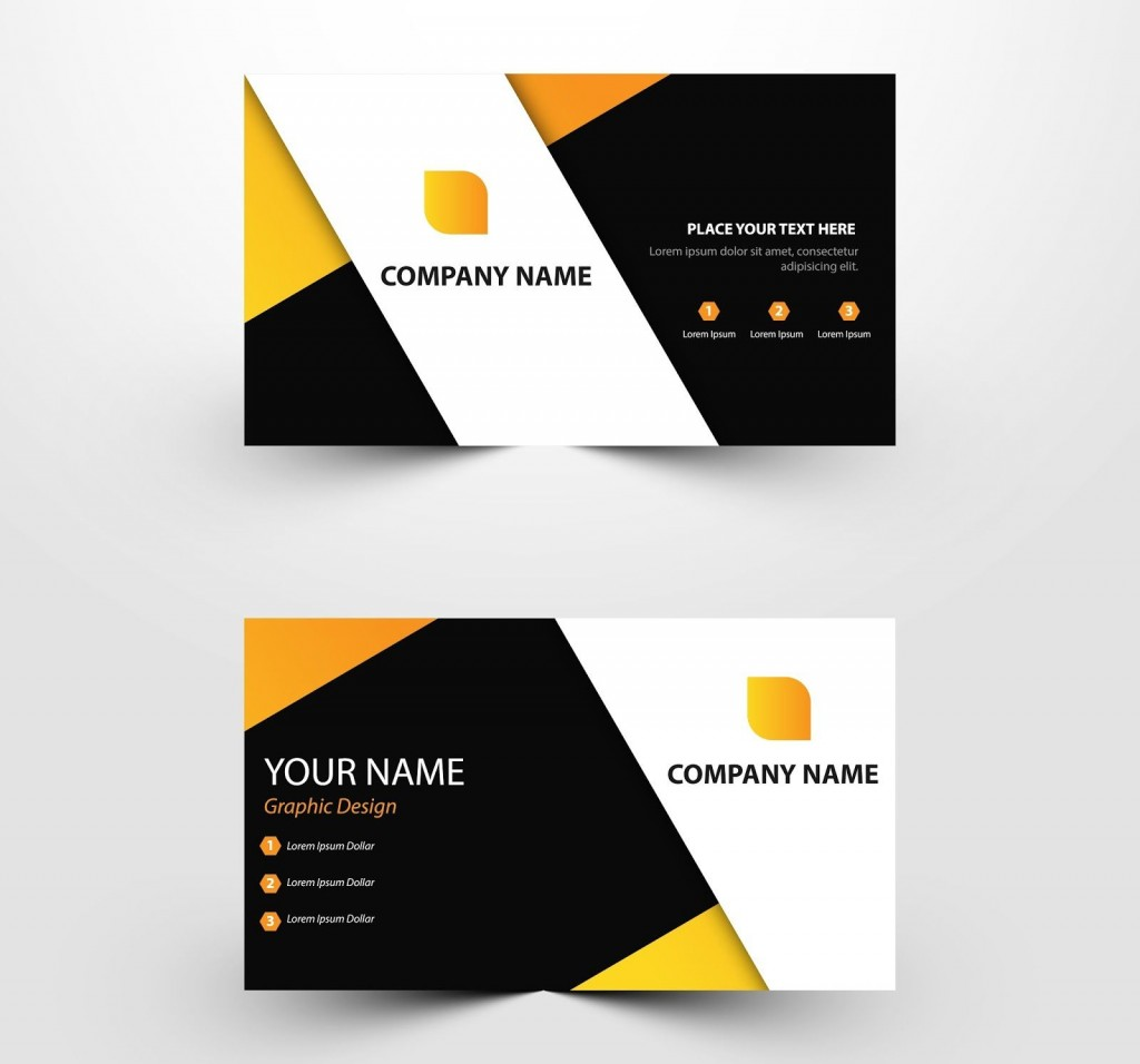010 Impressive Simple Visiting Card Design Psd File Free Download Concept Large