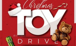 010 Impressive Toy Drive Flyer Template Free Highest Quality  Christma Download