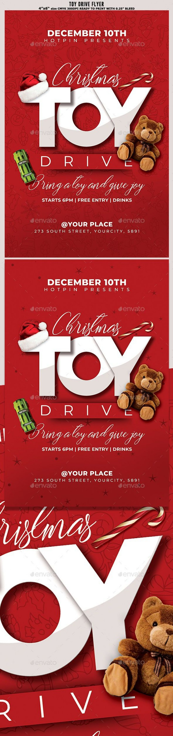 010 Impressive Toy Drive Flyer Template Free Highest Quality  Download Christma728