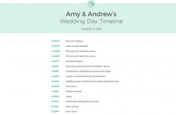 010 Impressive Wedding Timeline For Guest Template Free Photo  Download360