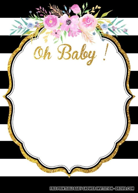 010 Incredible Baby Shower Invitation Card Template Free Download Inspiration  Indian480