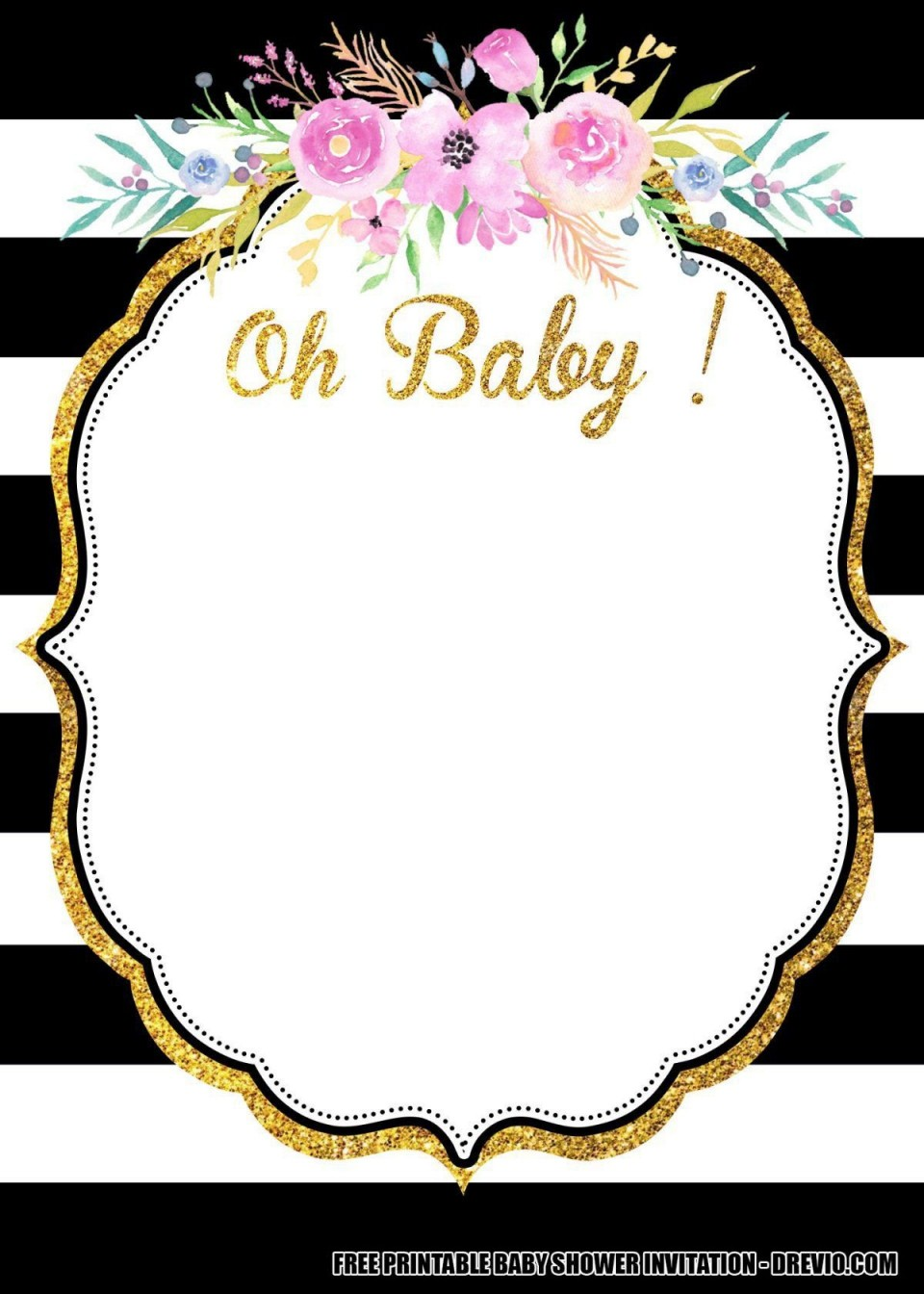 010 Incredible Baby Shower Invitation Card Template Free Download Inspiration  Indian960