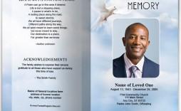 010 Incredible Funeral Program Template Free High Def  Download Memorial