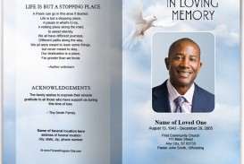 010 Incredible Funeral Program Template Free High Def  Printable Design