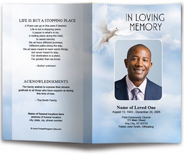 010 Incredible Funeral Program Template Free High Def  Printable Design360