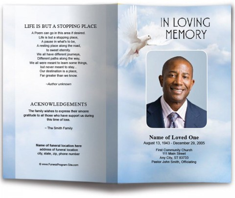 010 Incredible Funeral Program Template Free High Def  Printable Design480