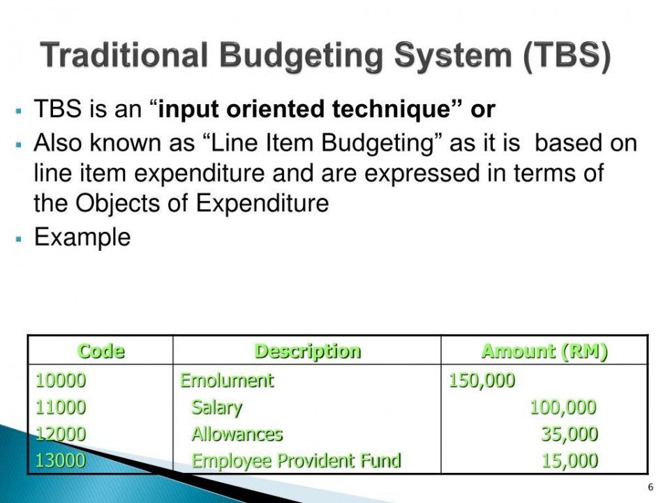 010 Incredible Line Item Budget Example  Format Meaning With960