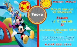 010 Incredible Mickey Mouse Invitation Template High Def  Free Diy 1st Birthday Baby Download
