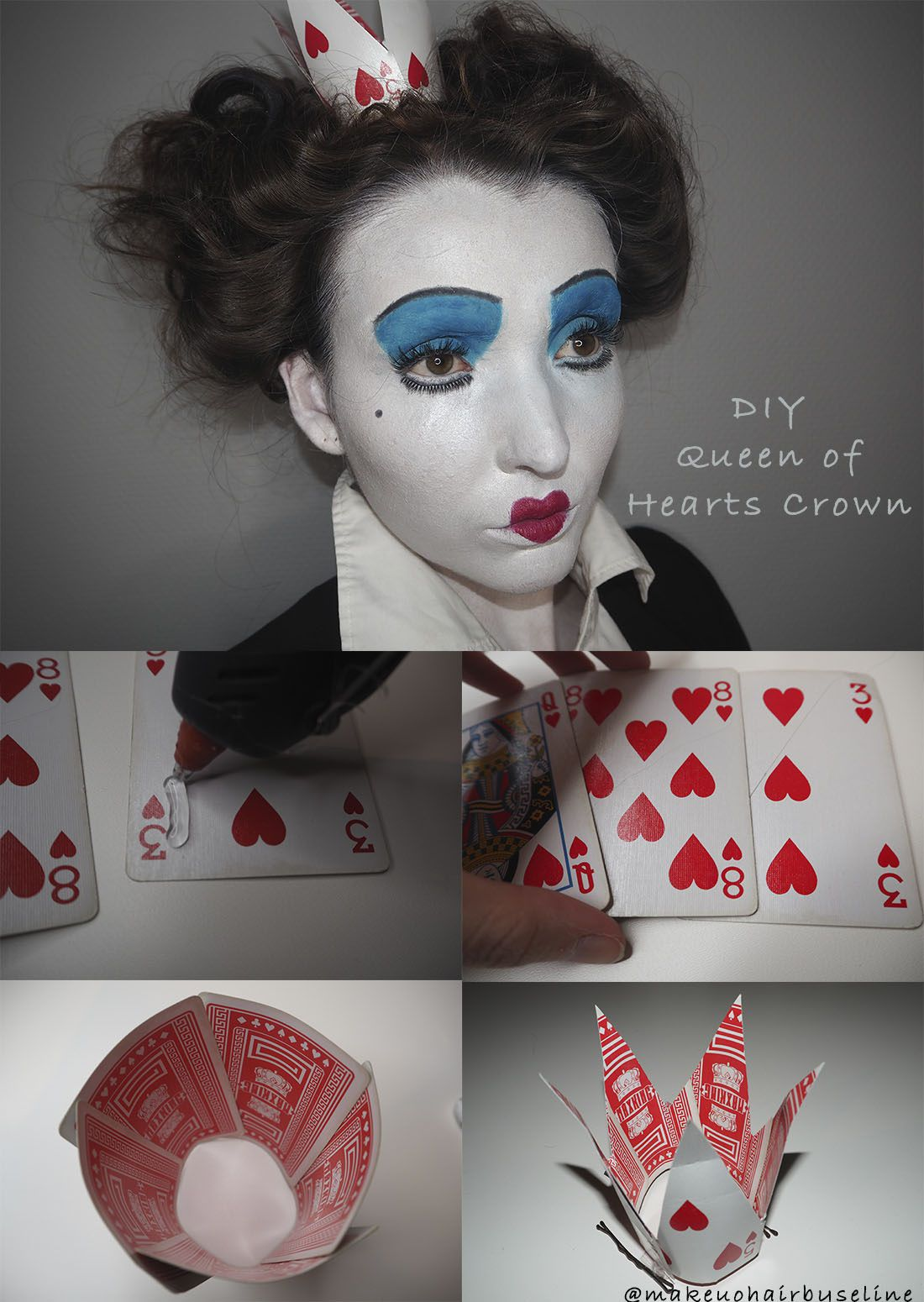 010 Incredible Queen Of Heart Crown Pattern High Def  Printable Template Headband DiyFull