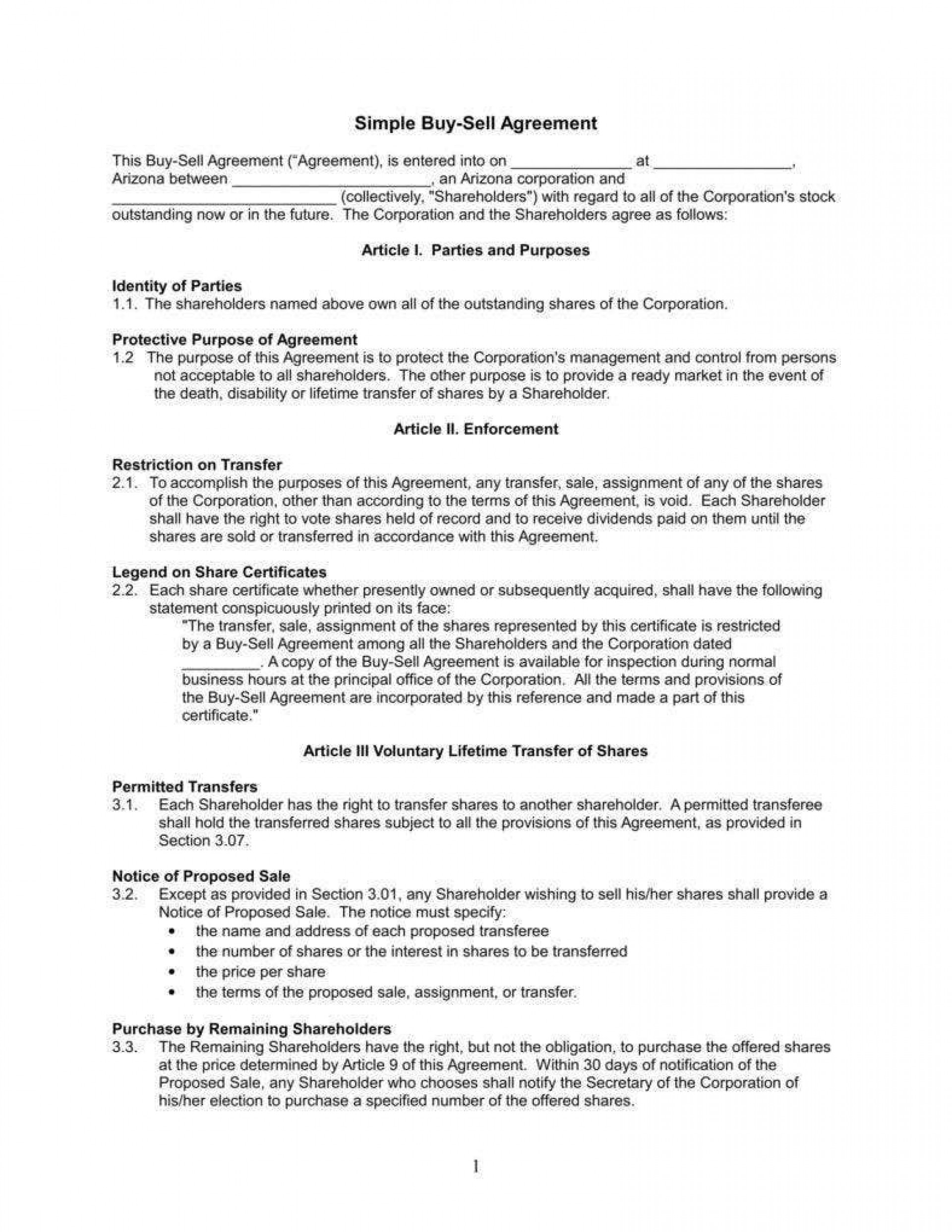010 Magnificent Buy Sell Agreement Llc Template Free Concept 1920