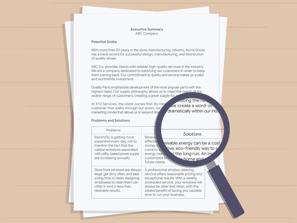 010 Magnificent Executive Summary Report Word Template Image Large