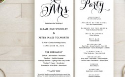 010 Magnificent Free Wedding Order Of Service Template Word Idea  Microsoft