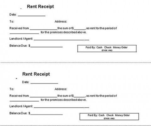 010 Magnificent House Rent Receipt Sample Doc Concept  Format Download Bill Template India480