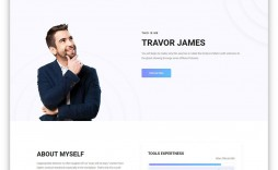 010 Magnificent Personal Portfolio Template Free Download Highest Quality  Psd Powerpoint