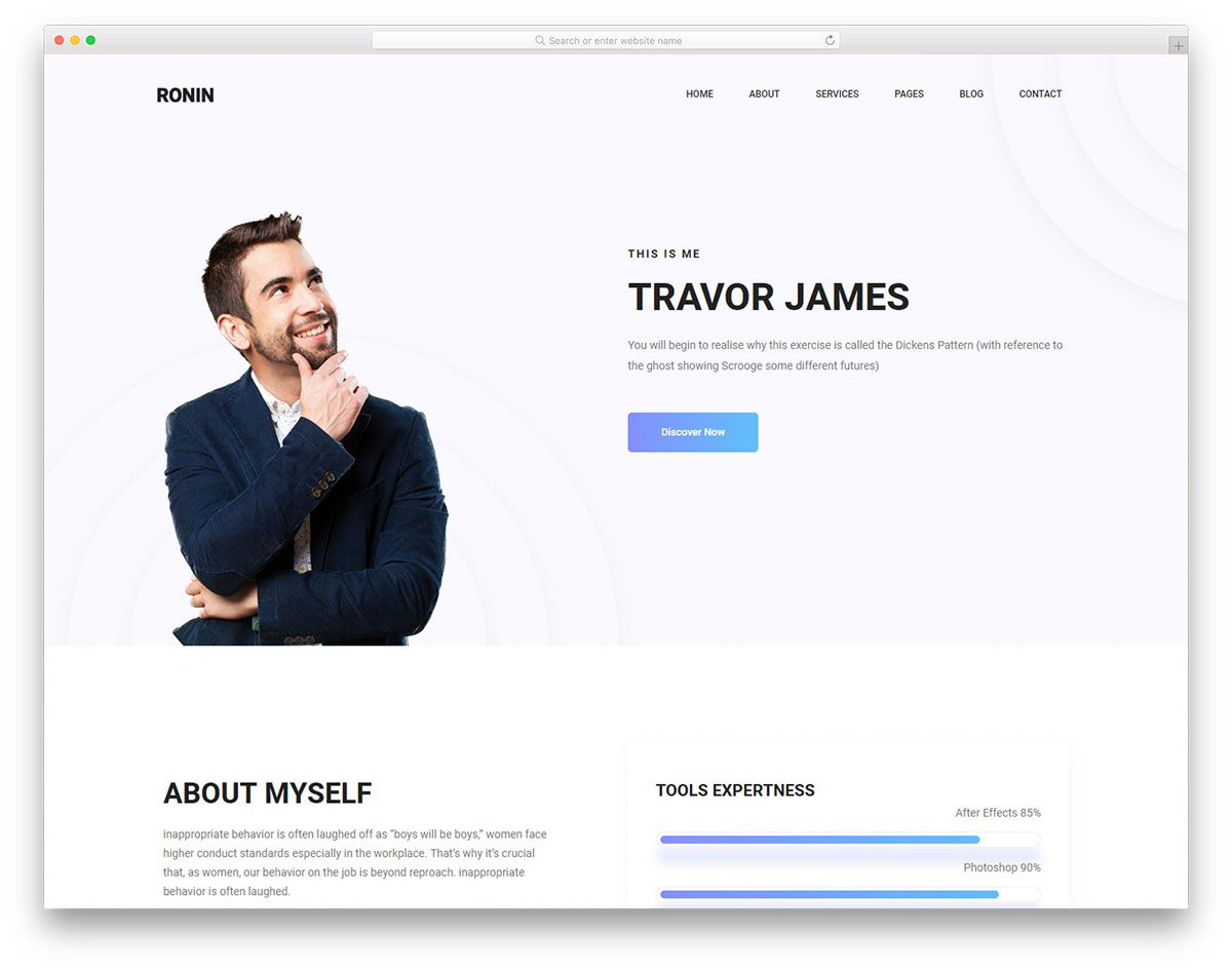 010 Magnificent Personal Portfolio Template Free Download Highest Quality  Psd PowerpointFull