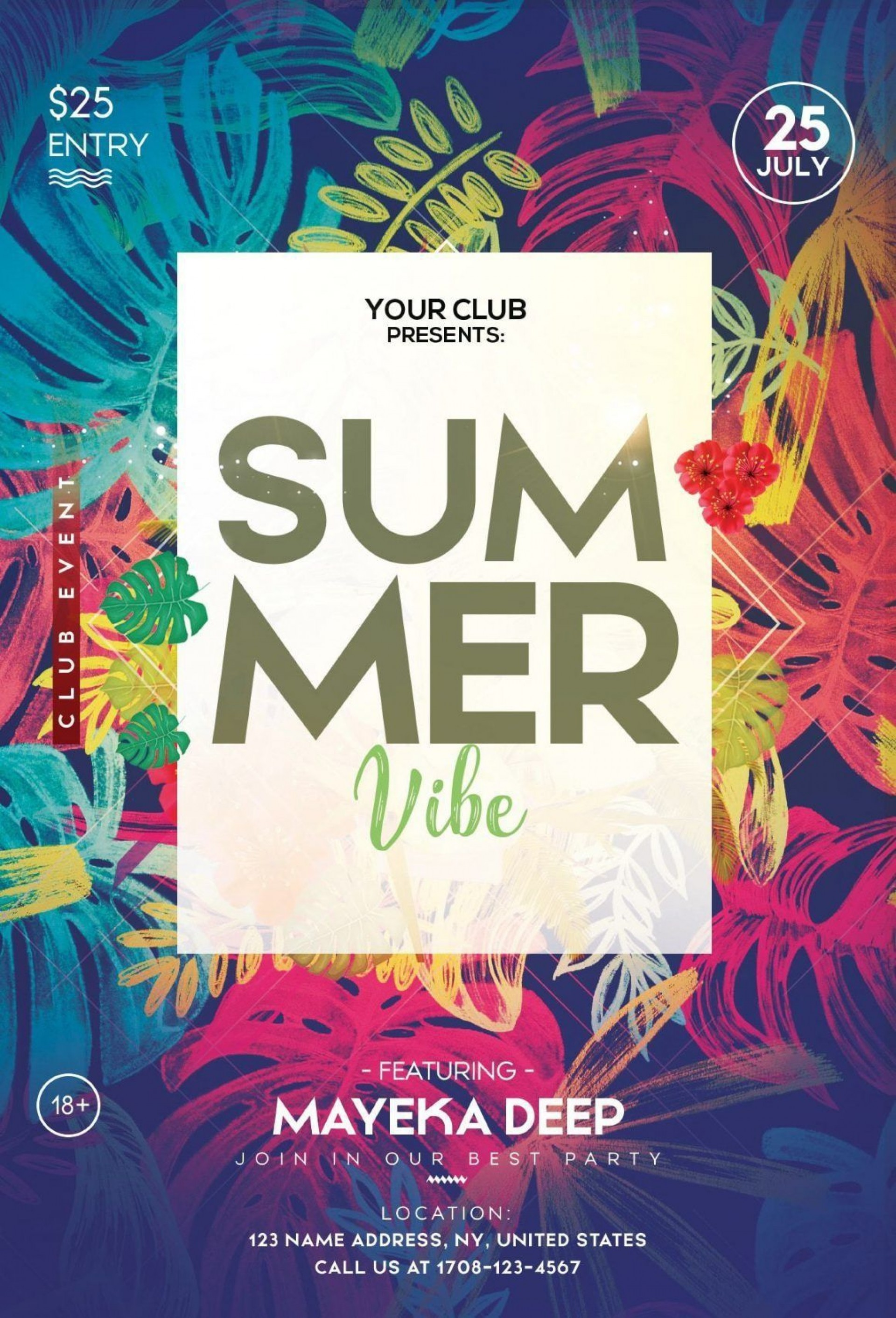 010 Magnificent Summer Party Flyer Template Free Download Example 1920