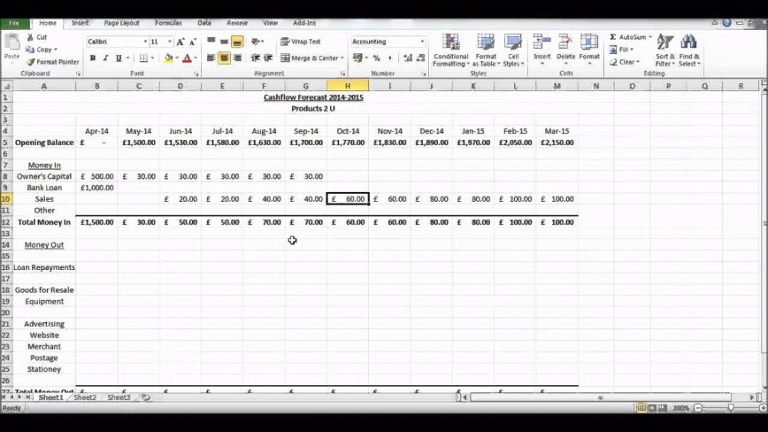 010 Marvelou Monthly Cash Flow Template Excel Uk High Definition 868