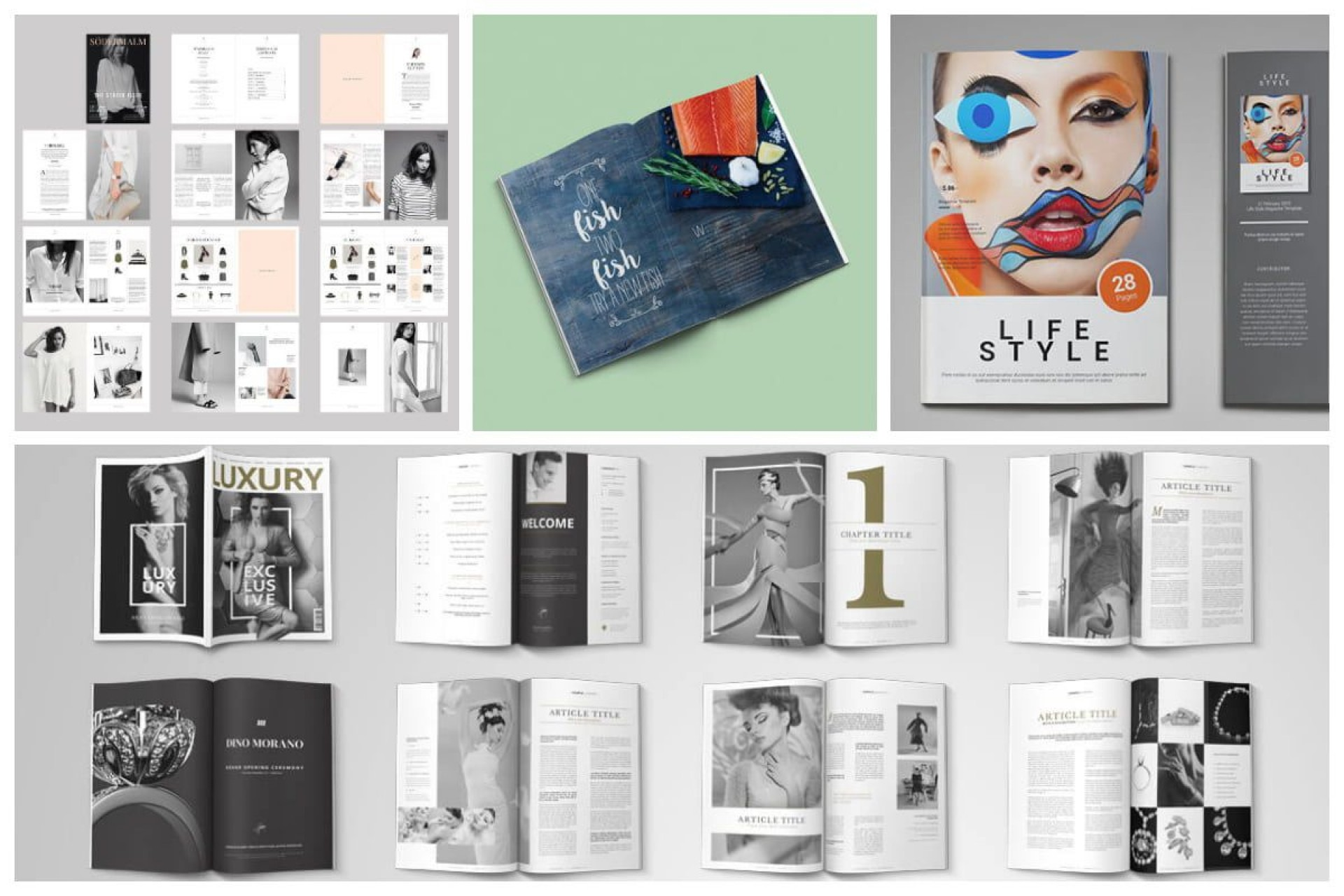 010 Marvelou Photoshop Magazine Layout Template Free Download Highest Quality 1920
