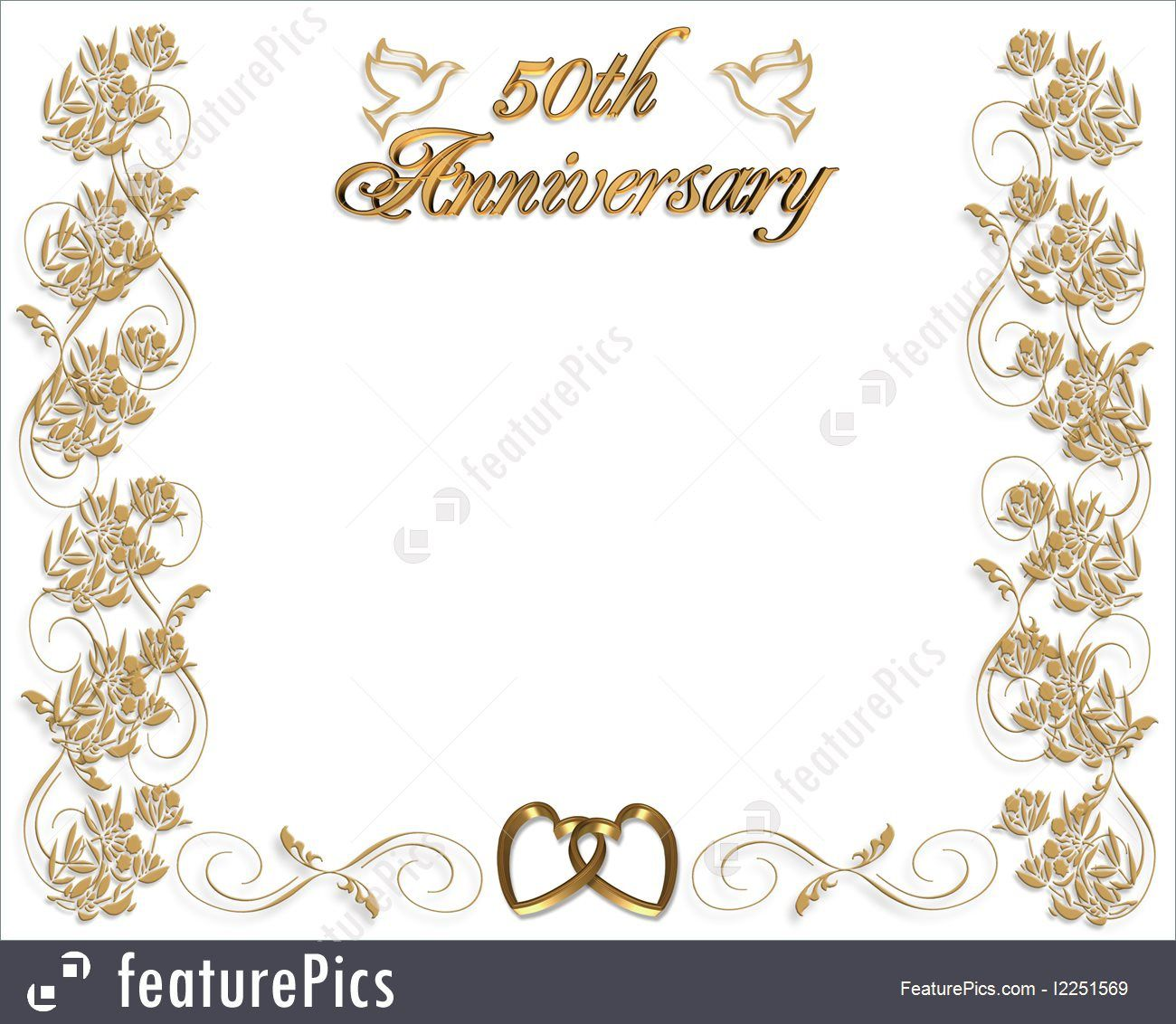 010 Outstanding 50th Anniversary Invitation Card Template High Resolution  Templates FreeFull