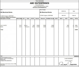 010 Outstanding Excel Invoice Template Gst Free Download Idea 320
