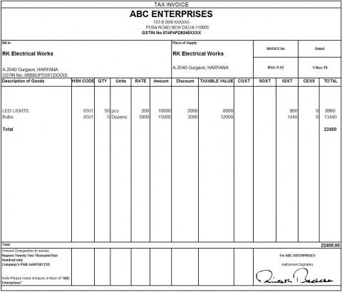 010 Outstanding Excel Invoice Template Gst Free Download Idea 480