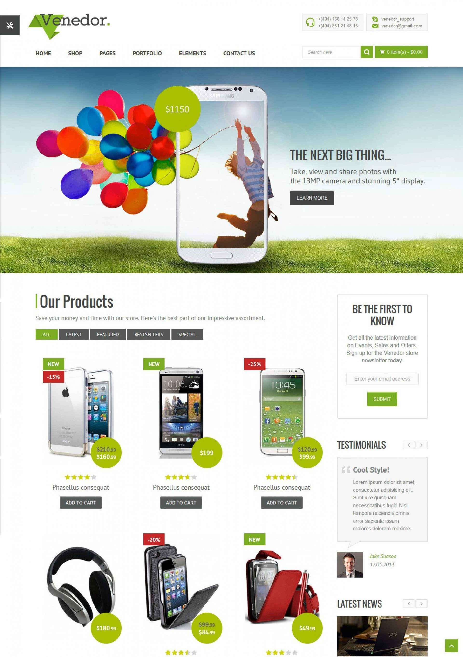 010 Outstanding Free Website Template Download Html And Cs Jquery For Ecommerce High Resolution 1920